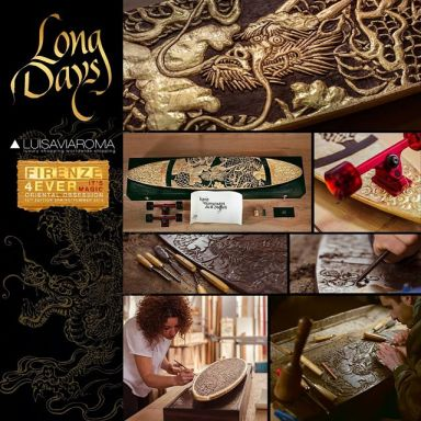Logo Long Days Long Boards. Edición Limitada. Oriental Obsession.