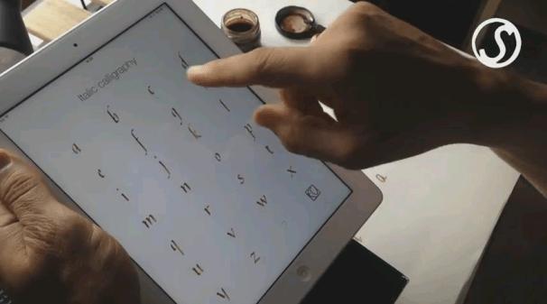 Practica caligrafía con Scriptorium app