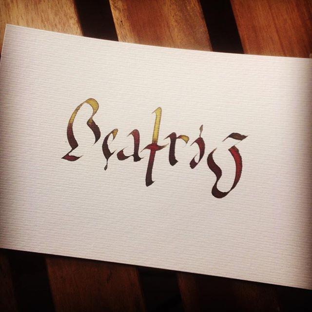Ambigrama de Beatriz. Esther Gordo