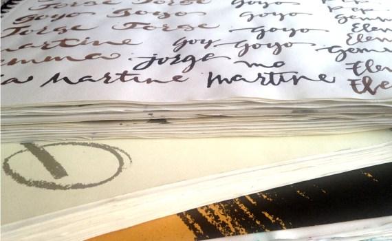Papel básico para practicar caligrafía