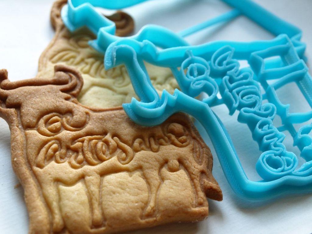 Moldes de galletas personalizados con caligrafía