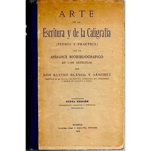 Portada Arte de la escritura y de la caligrafia