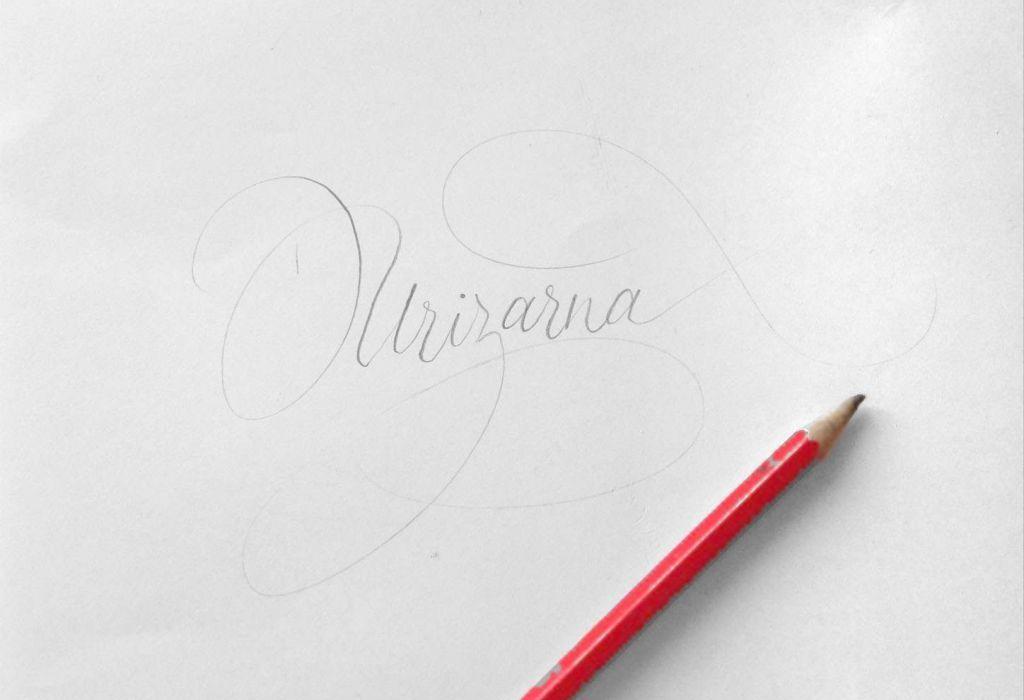 Urizarna caligrafiado a lápiz