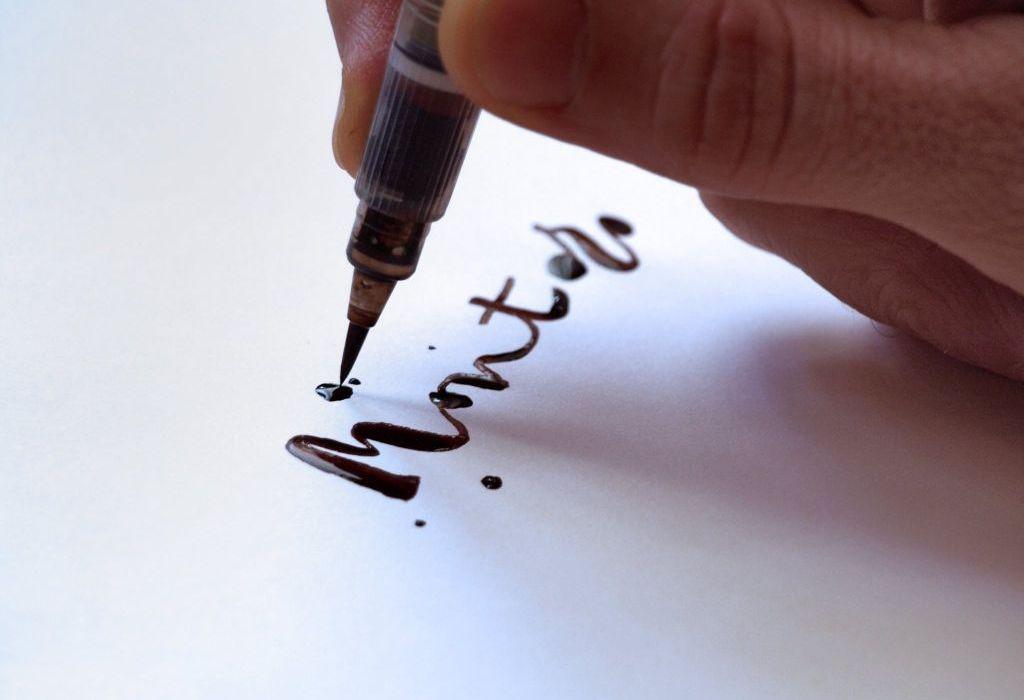 Marca personal Pablo Montoro escrito a pincel