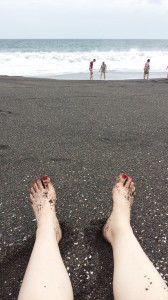 Black sand beach in Monterrico
