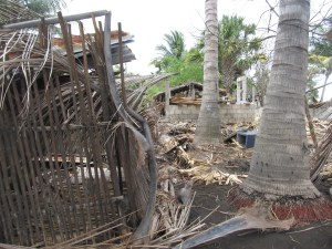 Storm damage in El Dormido
