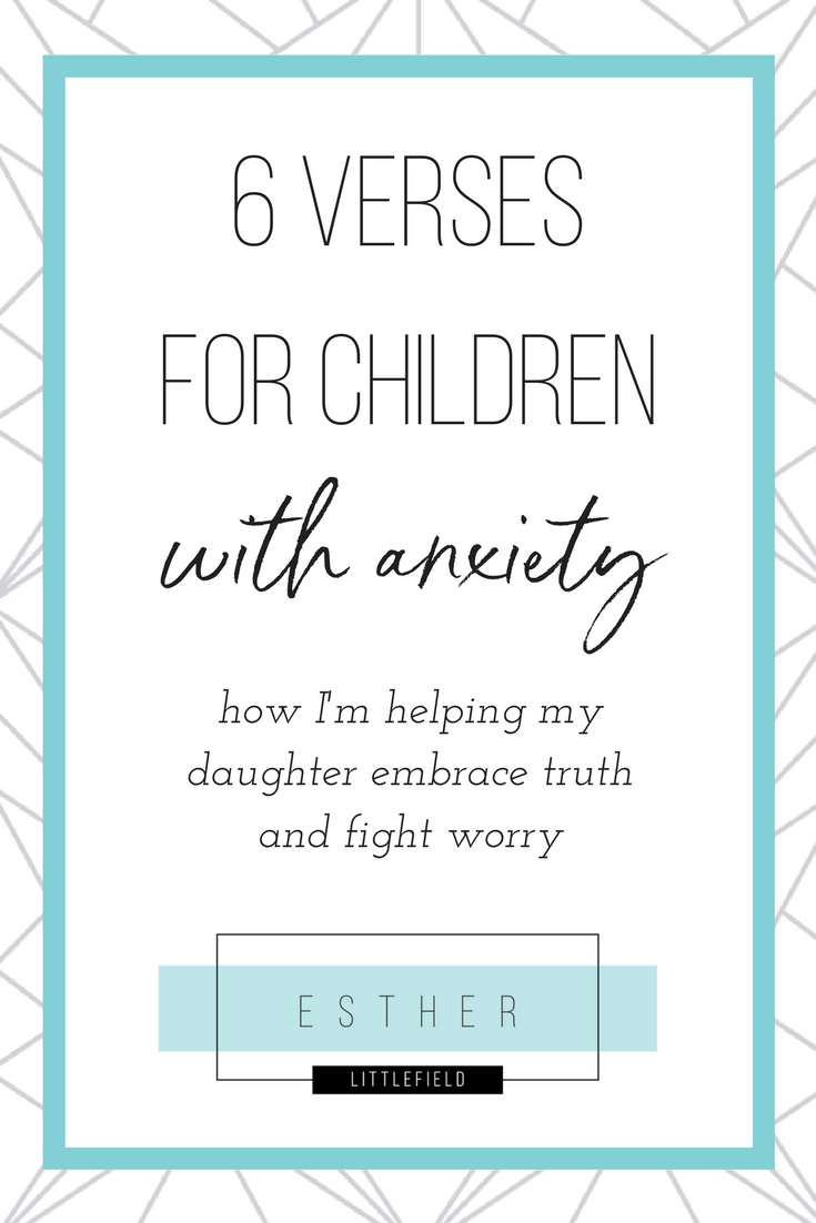 Dealing with children with anxiety can be very challenging. Here's some verses to help you and your child. Click to read & get the download.