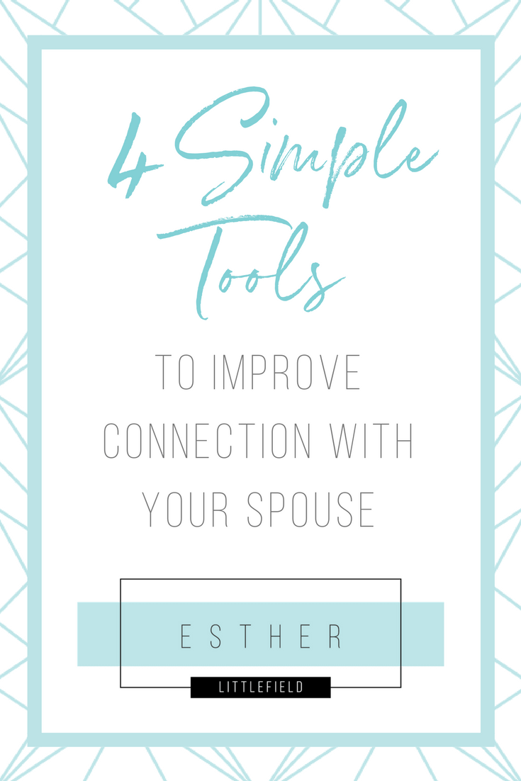 Do you want to improve connection with your spouse but not sure where to start? Try out these simple tools to help you improve communication and connection in your marriage.