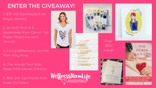 Creative Gift Ideas for Moms in Ministry Giveaway until December 2, 2016