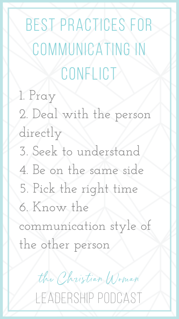 6 Tips for Dealing with Conflict in Leadership from communication expert Carrie Sharpe.