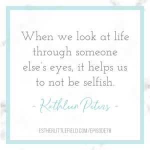 power of empathy and communication quote from Kathleen Peters