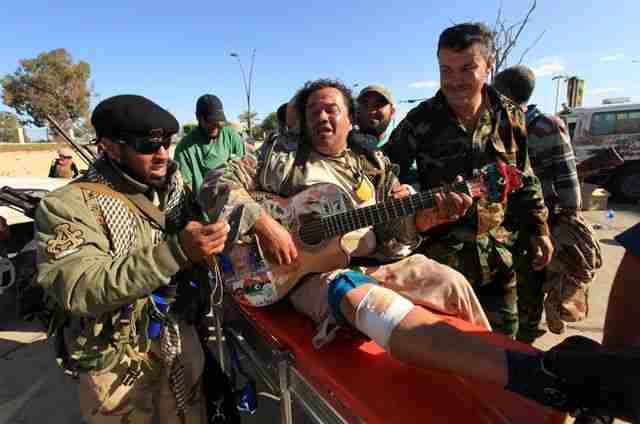 gitarist in oorlogstijd