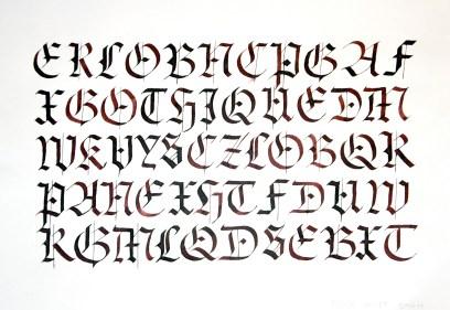 Exercice autour de la Gothique Textura (modèle du XIIe siècle)