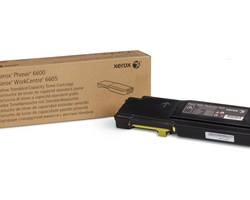 standard capacity toner yellow, 2000p for Phaser 6600, WorkCentre 6605