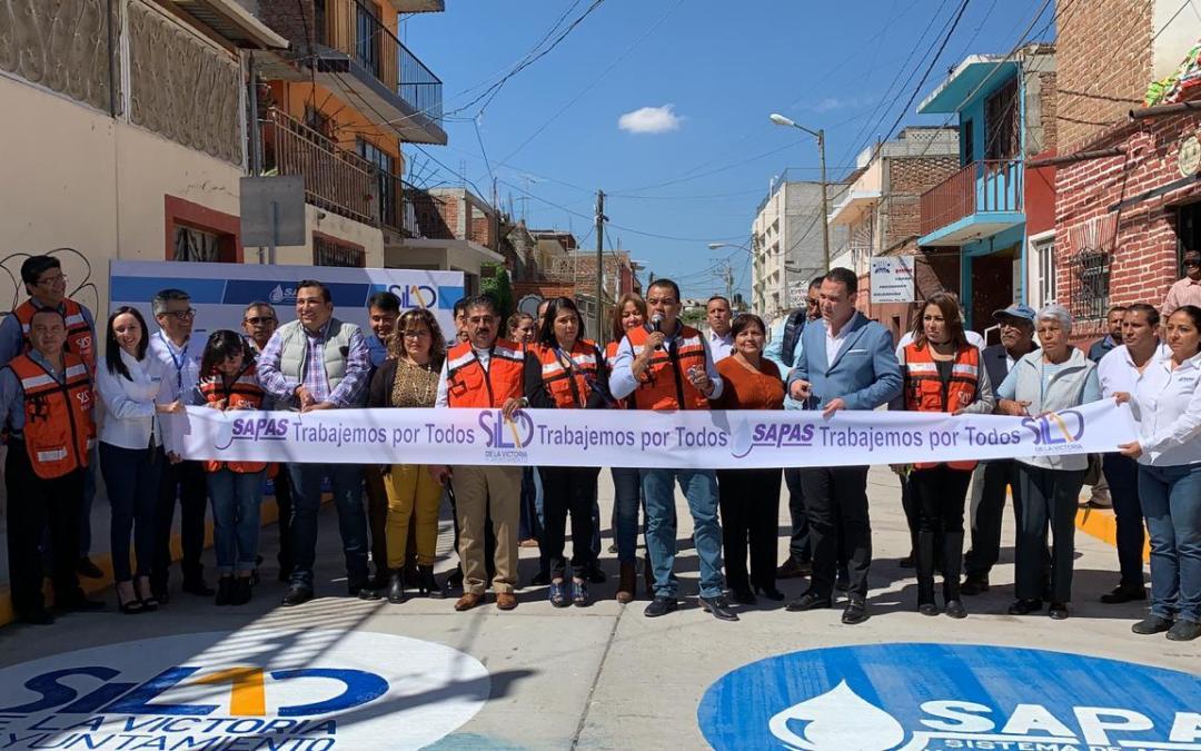 BIEN Y DE FIESTA: Reabre SAPAS calles Arenal y Sóstenes Rocha