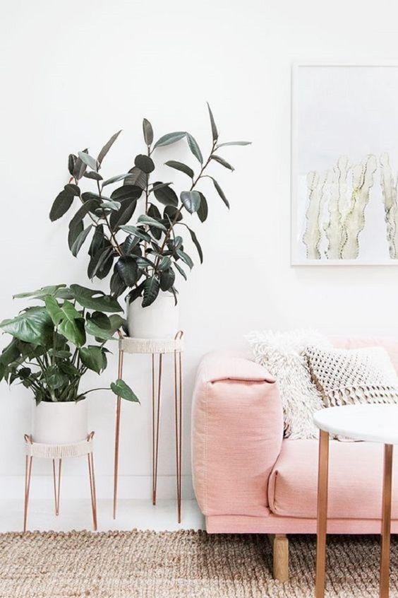 decorar con plantas artificiales 01