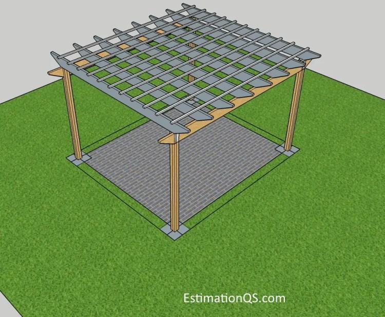 How To Build A Pergola Including Cost Of Building A Timber Pergola Estimation Qs
