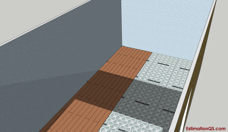 Fig 2 - Laminate Floor Laying the Rows