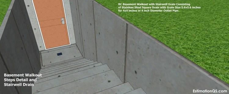Basement Walkout Steps Detail_10