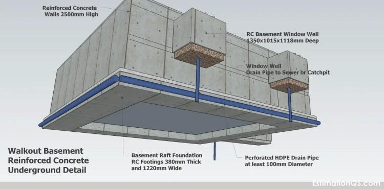RC Walkout Basement Underground Detail_3 CUTB