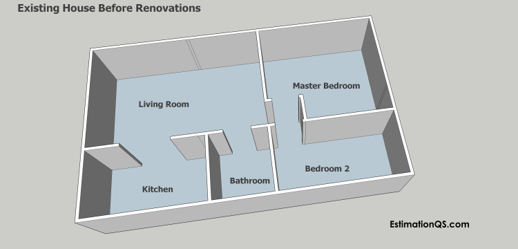 Alterations and Additions - Existing House Before Renovations 3D_3 STAMPED