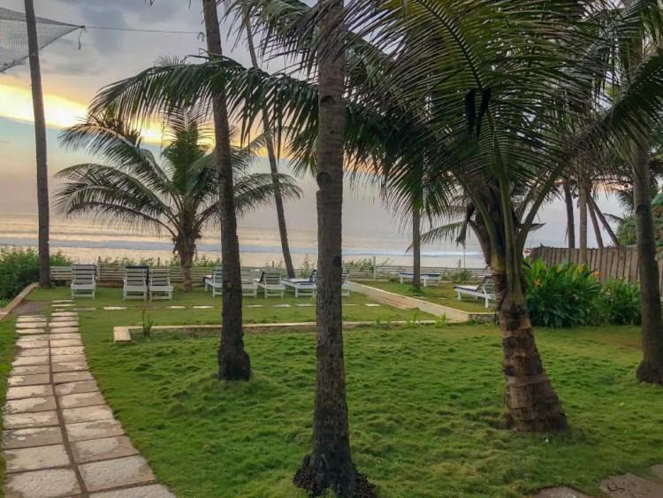 Leela Cottages Ashwem Beach Goa India Square Stone Walkway Pavers