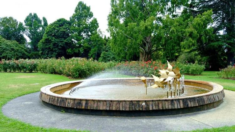 Water Fountain in Te Awamutu Resort New Zealand