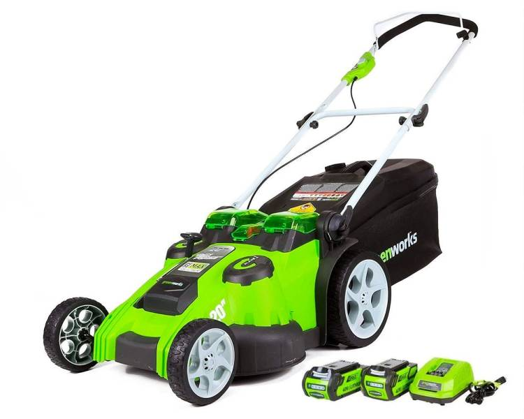 Greenworks 20 inches 40V Cordless Lawn Mower 4.0 AH 2.0 AH Battery $400