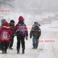 Elevii au ajuns cu greu la cursuri din cauza zăpezii. Cursurile s-au reluat în toate școlile din județ