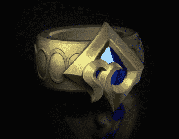 A teaser for a new LoL champion, a simple ring with a crystal in it