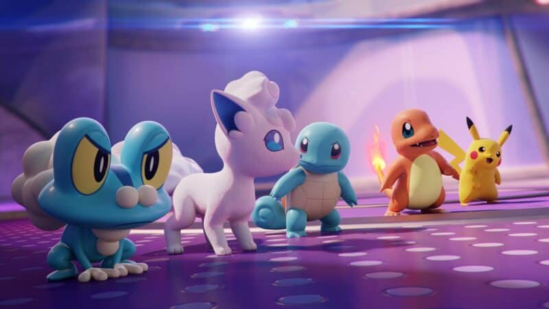 Pokemon available for play in Unite included Charmander, Squirtle and Pikachu