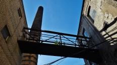 Zelluloosi kvartal Tallinn Estonia smokestack bridge