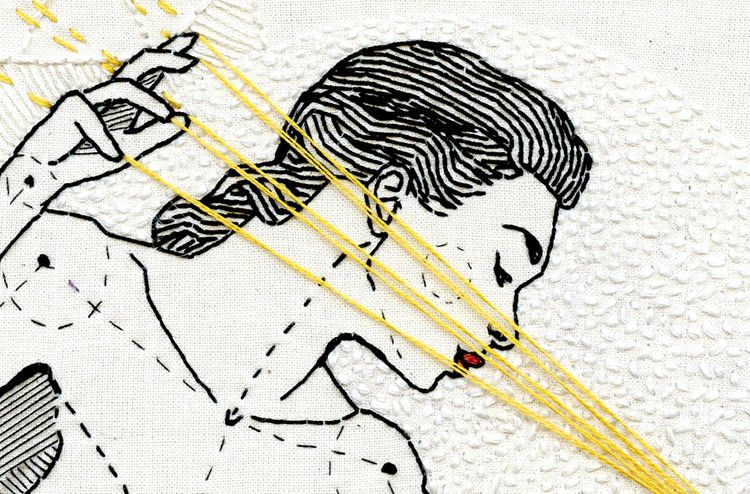 Andrea B. Farina, el arte de dibujar con hilos