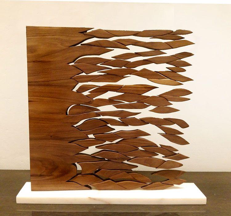 """""""Espacio-tiempo"""", esculturas en madera de Jesús Hilera"""
