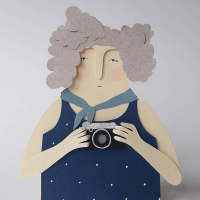 Retratos en papel de Andrea Escargot