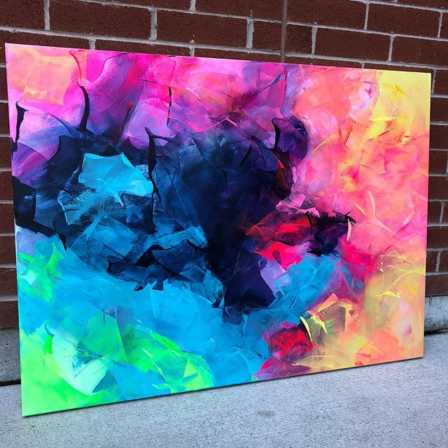 El colorido arte abstracto de Courtney Senior