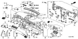 Acura online store : 2005 rl instrument panel parts