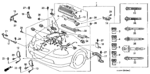 Honda online store : 2000 civic engine wire harness parts