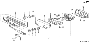 Honda online store : 2001 crv rear wiper parts