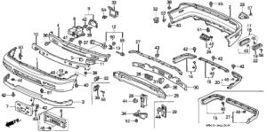Honda online store : 1994 accord bumper parts