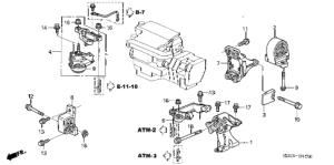 Honda online store : 2004 civic engine mount (at) parts