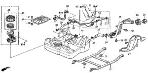 Honda online store : 2003 civic fuel tank (1) parts