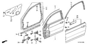 Honda online store : 2001 civic door panels parts