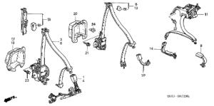 Honda online store : 2005 crv seat belts parts