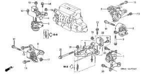 Honda online store : 2002 crv engine mounts (mt) parts