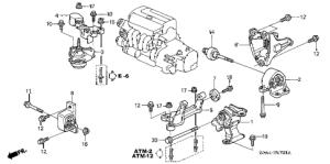 Honda online store : 2004 crv engine mounts (at) (2wd) parts