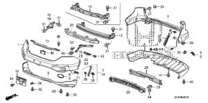 Honda online store : 2011 crv bumpers ('10) parts