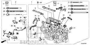 32110R5AA50   WIRE HARNESS, ENGINE  Bernardi Parts