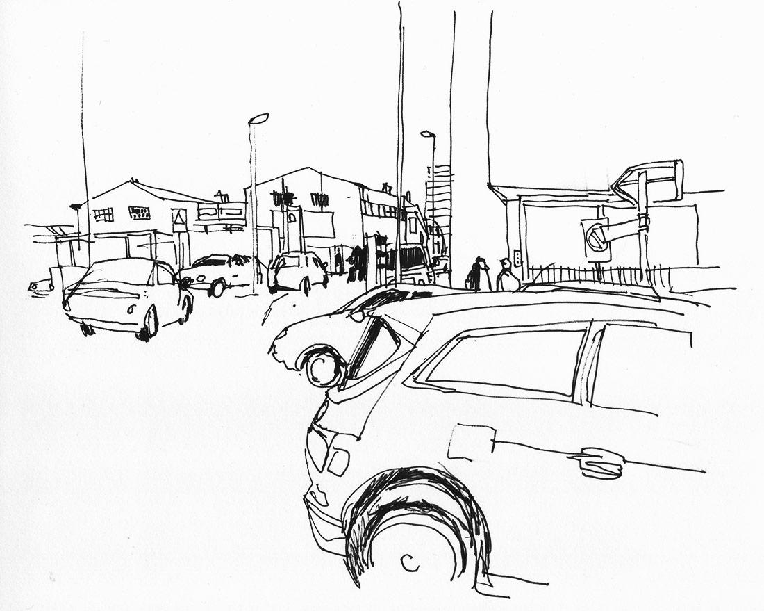 Urban Sketchers Switzerland Cars In Allschwil