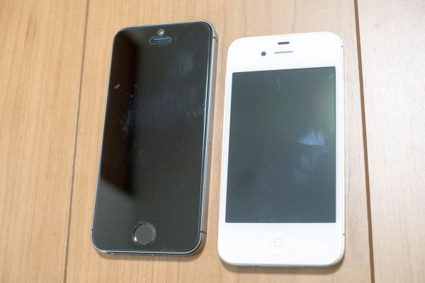 名機iPhone 4SとiPhone 5s